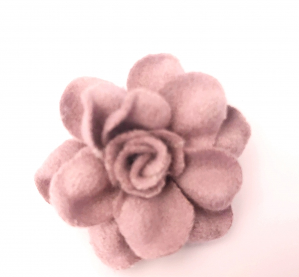 1 Stck Wollblume rosa 4 cm