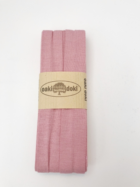 3 m Jersey Schrägband - oaki doki - altrosa