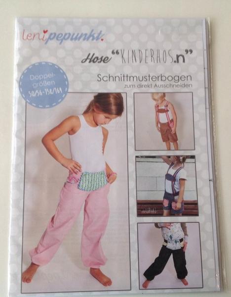 """Leni P.Punkt Schnittmuster Hose """"Kinderhos.n"""" Gr. 50/56-158/164"""