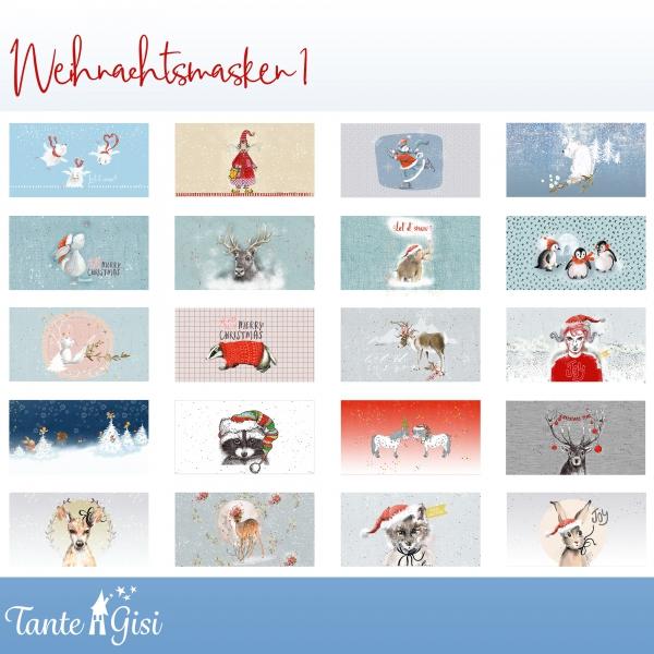 Lillestoff Weihnachtsmasken 1, Webware