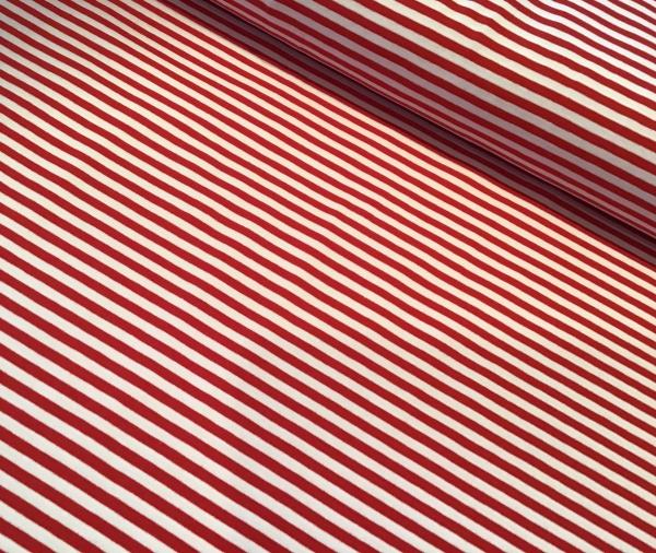 Jersey rot-weiss gestreift