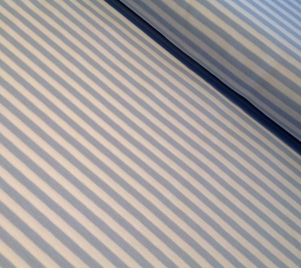 Jersey Streifen hellblau-weiss