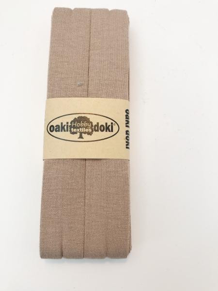 3 m Jersey Schrägband - oaki doki - hellbraun