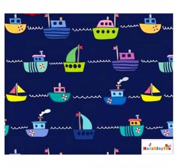Frl von Julie - Jersey mit bunten Schiffen