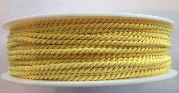5 m gedrehte Kordel gelb 2,8 mm