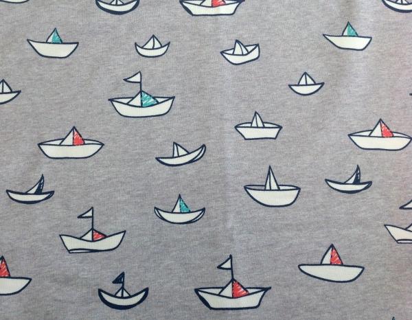 Jersey Segelboote grau - Frl. von Julie