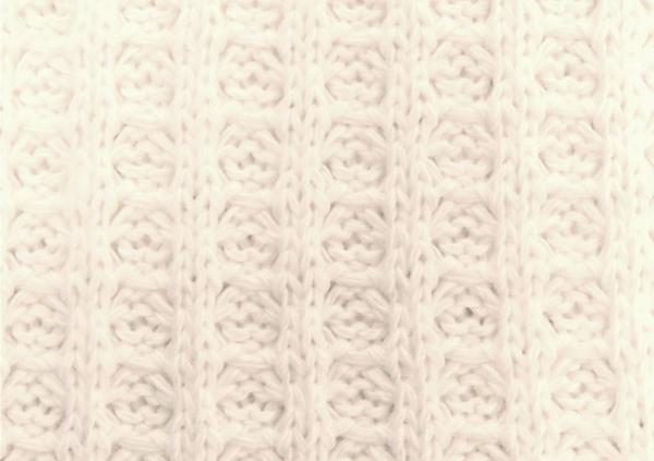 Baumwoll-Waffel wollweiss