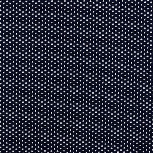 Baumwollstoff Mini-Sterne auf dunkelblau
