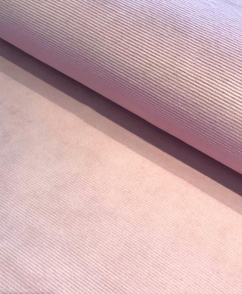Cord Jersey fein gerippt zart rosa