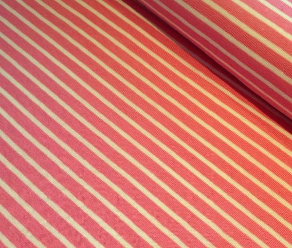 Hilco Jersey-Campan-Streifen pink weiss