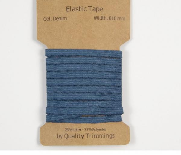 3 m Gummiband -5 mm für Masken in jeansblau