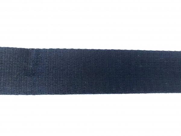 1 m Gurtband dunkelblau 4 cm - Baumwolle