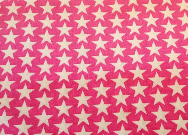 Baumwollstoff Sterne auf pink