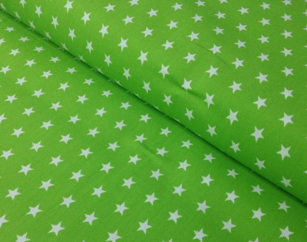 Baumwollstoff Sterne grün