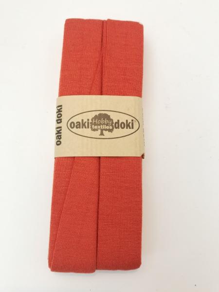 3 m Jersey Schrägband - oaki doki - rost