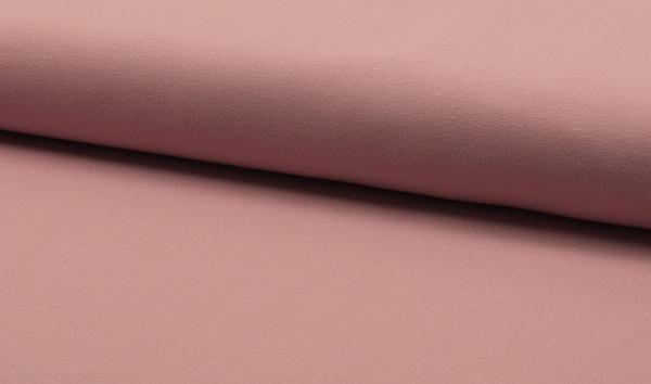 Baumwolljersey uni alt rosa