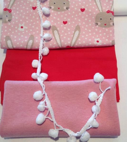 Stoffpaket Jersey Häschen von Frl. von Julie