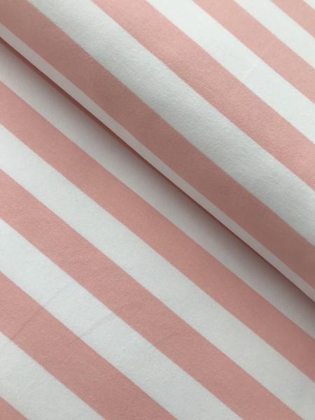 French Terry - Block-Streifen weiss rosa