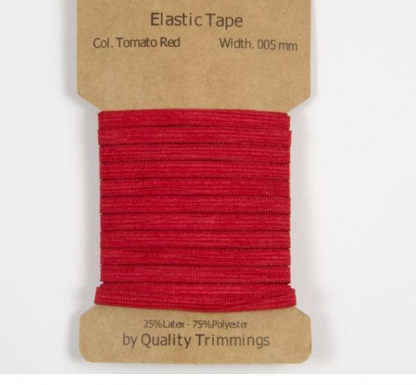 3 m Gummiband -5 mm für Masken in rot