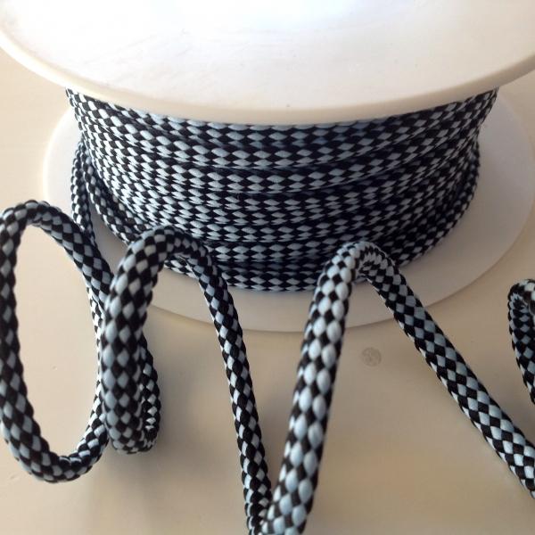 Hoodieband hellblau schwarz 5 mm