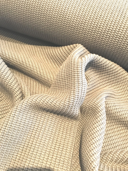 Baumwoll-Strick - Cotton Knitted Cable sand