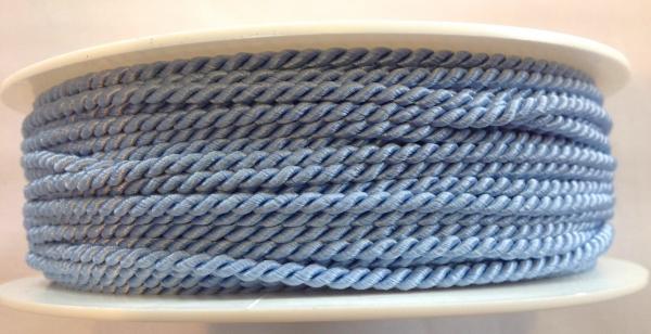 5 m gedrehte Kordel hellblau 2,8 mm