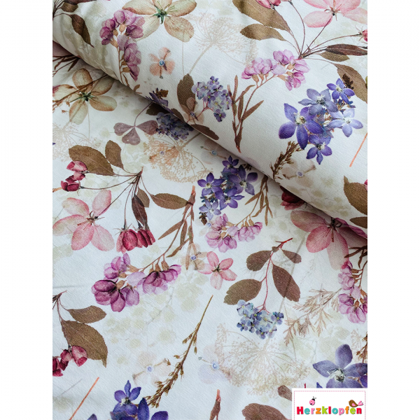 Jersey digital Flowers lilac