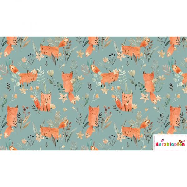 French terry digital - little Fox