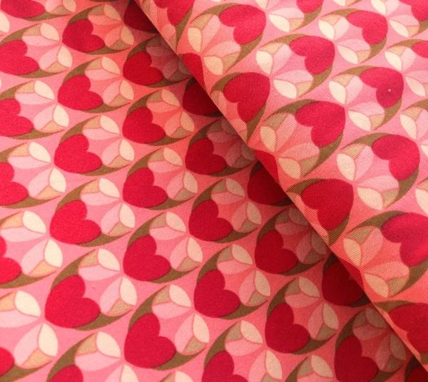 Lillestoff Bio-Jersey - Herzmomente pink -