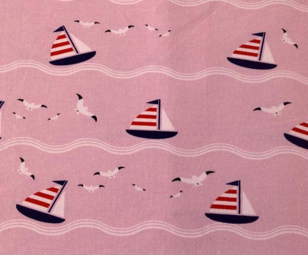 Jersey Segelboote rosa - Frl. von Julie