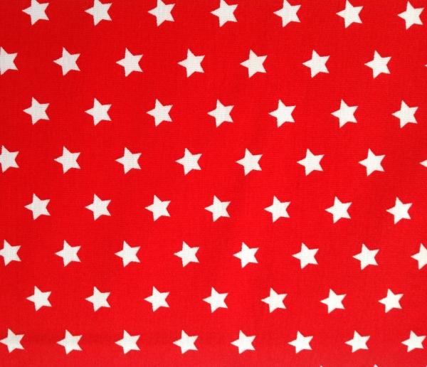 Baumwollstoff Sterne rot