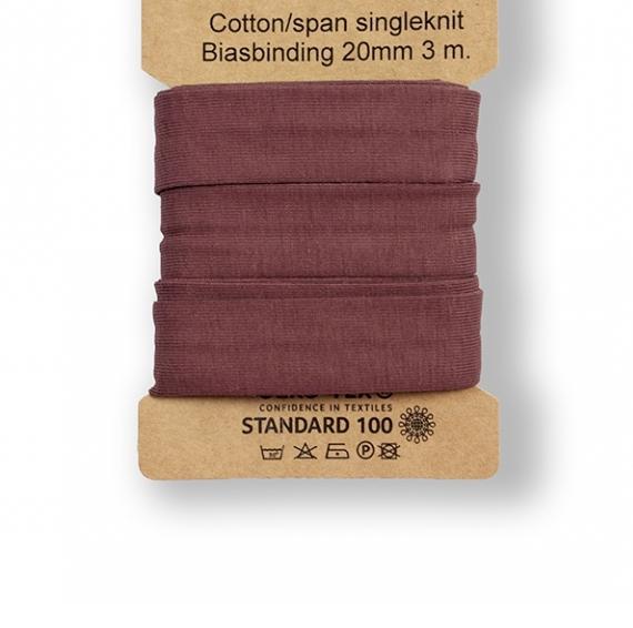 3 m Jersey Schrägband - dusty bordeaux-