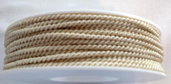 5 m gedrehte Kordel creme 2,8 mm