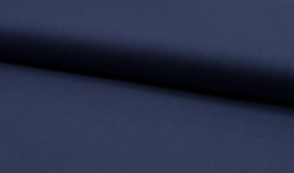 Baumwollstoff uni navy blue