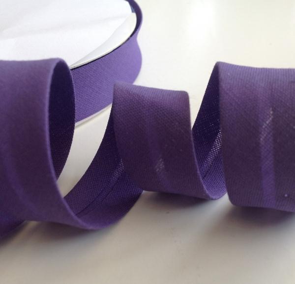 3 m Schrägband lila 18 mm