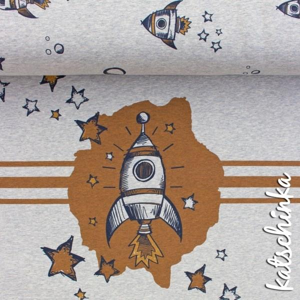 """Bio Jersey """"RocketStar - grau meliert Panel"""