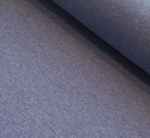 Baumwoll Jersey uni mittelblau/Jeans