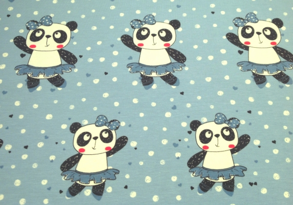 Jersey tanzendes Pandagirl blau
