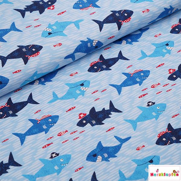 Bio-Jersey lustige Haifische
