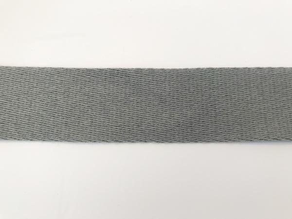 3 m Gurtband grau 4 cm - Baumwolle-Copy