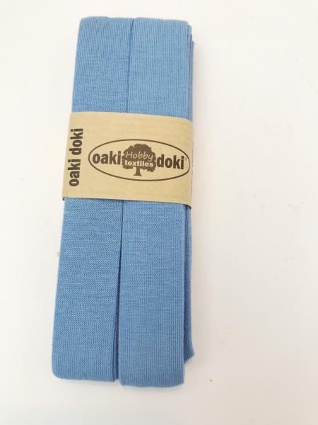 3 m Jersey Schrägband - oaki doki - hellblau