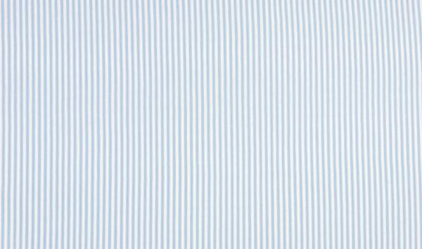 Bündchen hellblau weiss gestreift - Schlauchware-