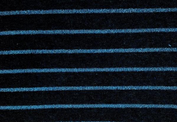 Jersey dunkelblau mit Glitzer Streifen