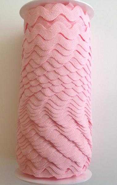 3 m Zackenlitze rosa 15 mm