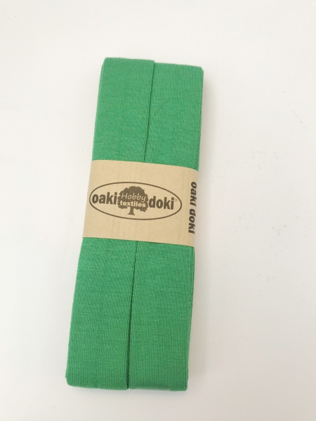 3 m Jersey Schrägband - oaki doki - grün
