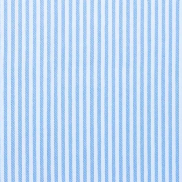 Jeansstoff gestreift hellblau-weiss