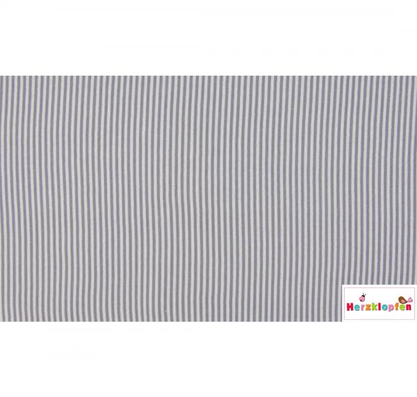 Bündchen grau gestreift - Schlauchware--