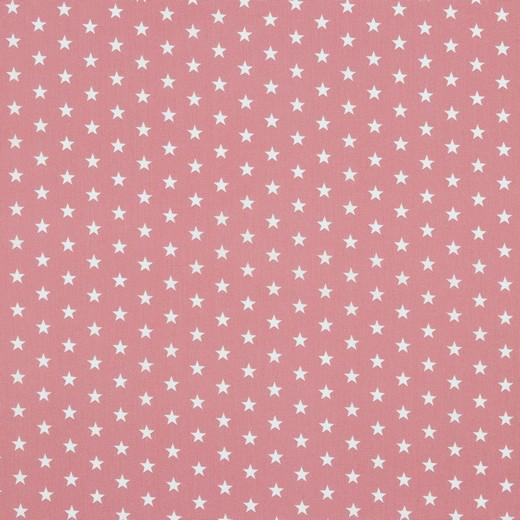 Baumwollstoff Sterne auf blush