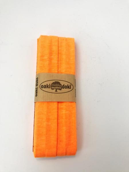 3 m Jersey Schrägband - oaki doki - orange