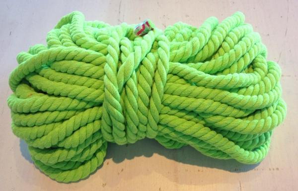 Baumwollkordel 12 mm hellgrün Kapuzenpulli